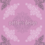 Lacy Ida Violet Seamless Vector Pattern Design