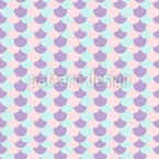 Meerjungfrau Haut Nahtloses Vektor Muster