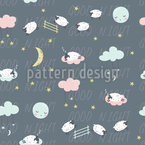 Falling Asleep Seamless Vector Pattern Design