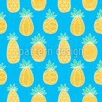 Ananas Zeichnungen Nahtloses Vektormuster