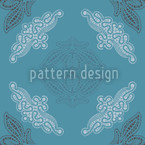 Just Lace Teal Seamless Vector Pattern Design