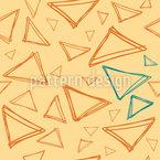 Gekritzeltes Dreieck Vektor Muster