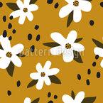 Stilvolle Blumen Rapportiertes Design