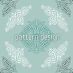 Grandmas Doily Seamless Vector Pattern Design