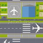 Aeroporto Design de padrão vetorial sem costura