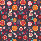 Fruity Time Seamless Vector Pattern Design