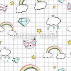 Regenbogen Kätzchen Rapportiertes Design