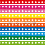 Regenbogen Sternen Bordüren Nahtloses Vektormuster
