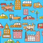 Stadt Transport Nahtloses Muster