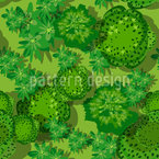 Forest Landscape Seamless Vector Pattern