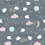 Cute Little Sheep Seamless Pattern