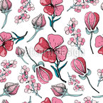 Blossoms And Buds Repeating Pattern
