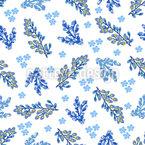 Winter Florals Seamless Pattern