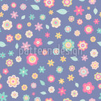 Flowers And Leafs Vector Pattern