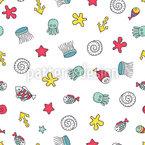 Cute Sea Life Repeat Pattern