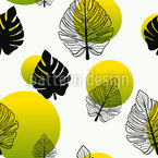 Monstera Ball Seamless Vector Pattern Design