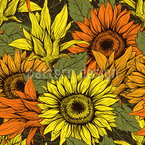 Sunflower Harvest Seamless Pattern