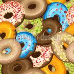 Donuts mit Streuseln Nahtloses Vektormuster