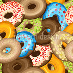 Doughnuts With Sprinkles Pattern Design