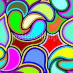 Psychedelic Drops Seamless Vector Pattern Design