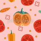 Different Vegetables Seamless Vector Pattern Design