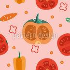 Verschiedenes Gemüse Nahtloses Vektor Muster