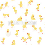 Little Ducklings Vector Pattern