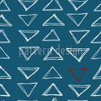 Dreiecks Gekritzel Nahtloses Vektormuster