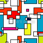 Modrian Rectangles Seamless Vector Pattern Design