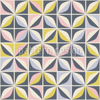Retro In Mosaic Style Repeat Pattern