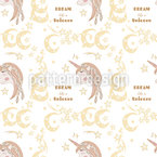 Dream Like A Unicorn Pattern Design