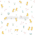 Cute Ducklings Pattern Design