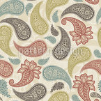 Traditional Indian Paisleys Design Pattern