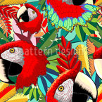 Macaw Seamless Vector Pattern Design