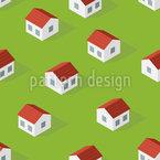 Isometrisches Zuhause Nahtloses Vektormuster
