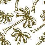 Coconut Palmtree Seamless Vector Pattern Design