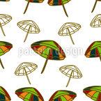Beach Umbrellas Seamless Vector Pattern Design