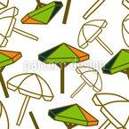 Beach Umbrella Seamless Vector Pattern Design