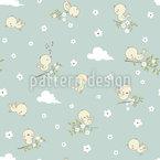 Kleine Babyvögel Nahtloses Vektor Muster