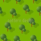 Isometrische Bäume Nahtloses Vektormuster