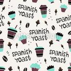Spanischer Kaffee Designmuster