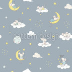 Dreaming Mice Seamless Vector Pattern Design