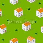 Isometrisches Haus Nahtloses Vektormuster