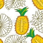 Sliced Pineapples Seamless Vector Pattern Design