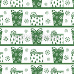 Parcel Delivery Green Seamless Vector Pattern Design