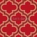 Retro Marokko Rot Nahtloses Vektormuster
