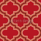 Retro Morocco Red Seamless Vector Pattern Design