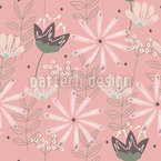 Whimsical Flowers Seamless Vector Pattern Design