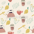 Teezeiten Nahtloses Vektormuster