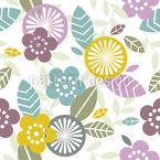 Grafische Pflanzen Designmuster